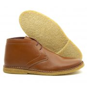 The Crowley Tan Leather Desert Boot